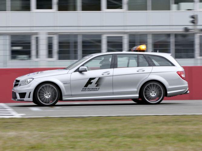 2011 Mercedes Benz C63 AMG Estate F-1 Medical Car S204 race racing formula one stationwagon gs wallpaper