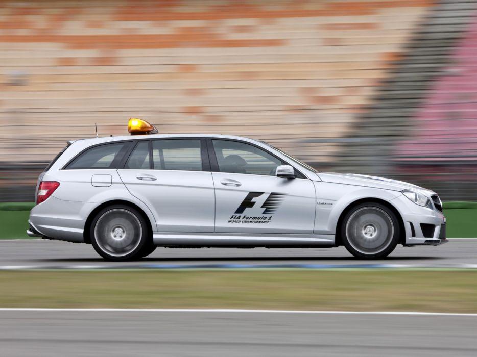 2011 Mercedes Benz C63 AMG Estate F-1 Medical Car S204 race racing formula one stationwagon  gw wallpaper