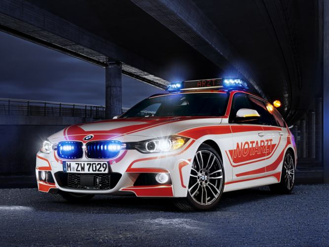 2013 BMW 3-Series Touring M Sport Package Notarzt F31 ambulance emergency tuning wallpaper