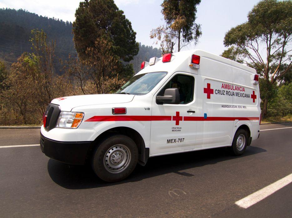 2013 Nissan NV2500 HD High Roof Ambulancia emergency ambulance     g wallpaper