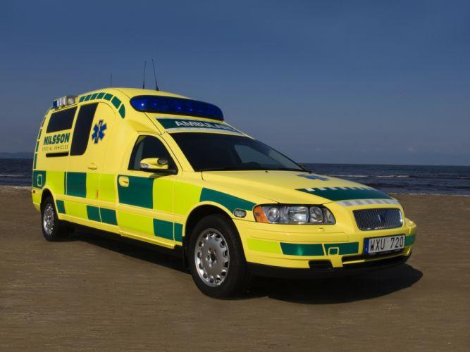 Nilsson Volvo V70 Ambulance emergency h wallpaper