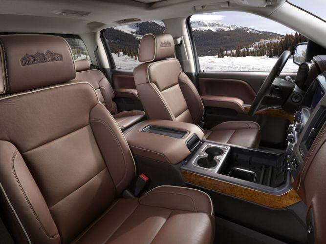 2014 Chevrolet Silverado High Country Crew Cab pickup interior g wallpaper