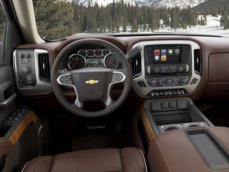 2014 Chevrolet Silverado High Country Crew Cab pickup interior      g wallpaper