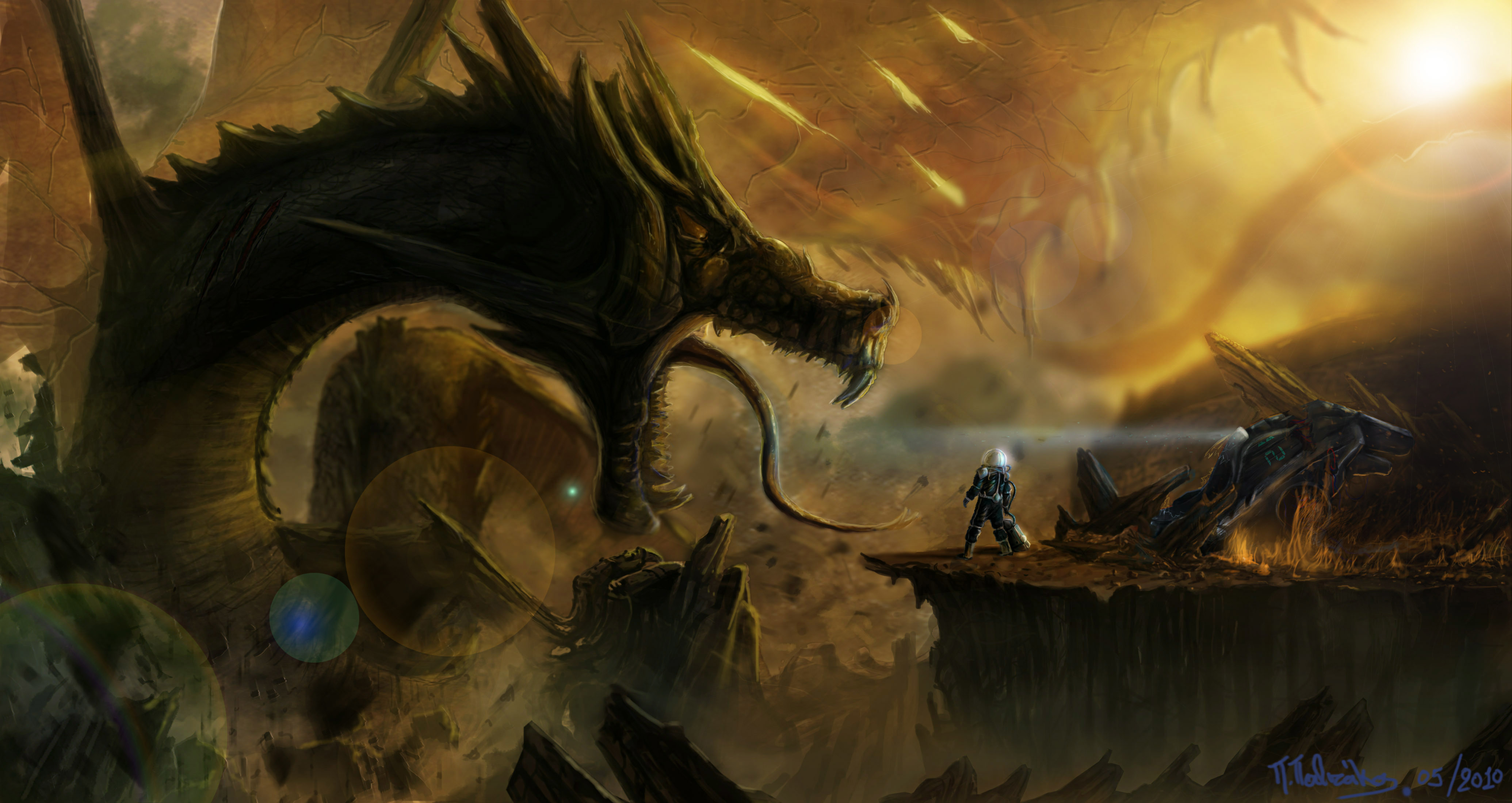 World Wallpaper Sci Fi Wallpaper: Dragon Monster Fantastic World Sci-fi Fantasy Wallpaper