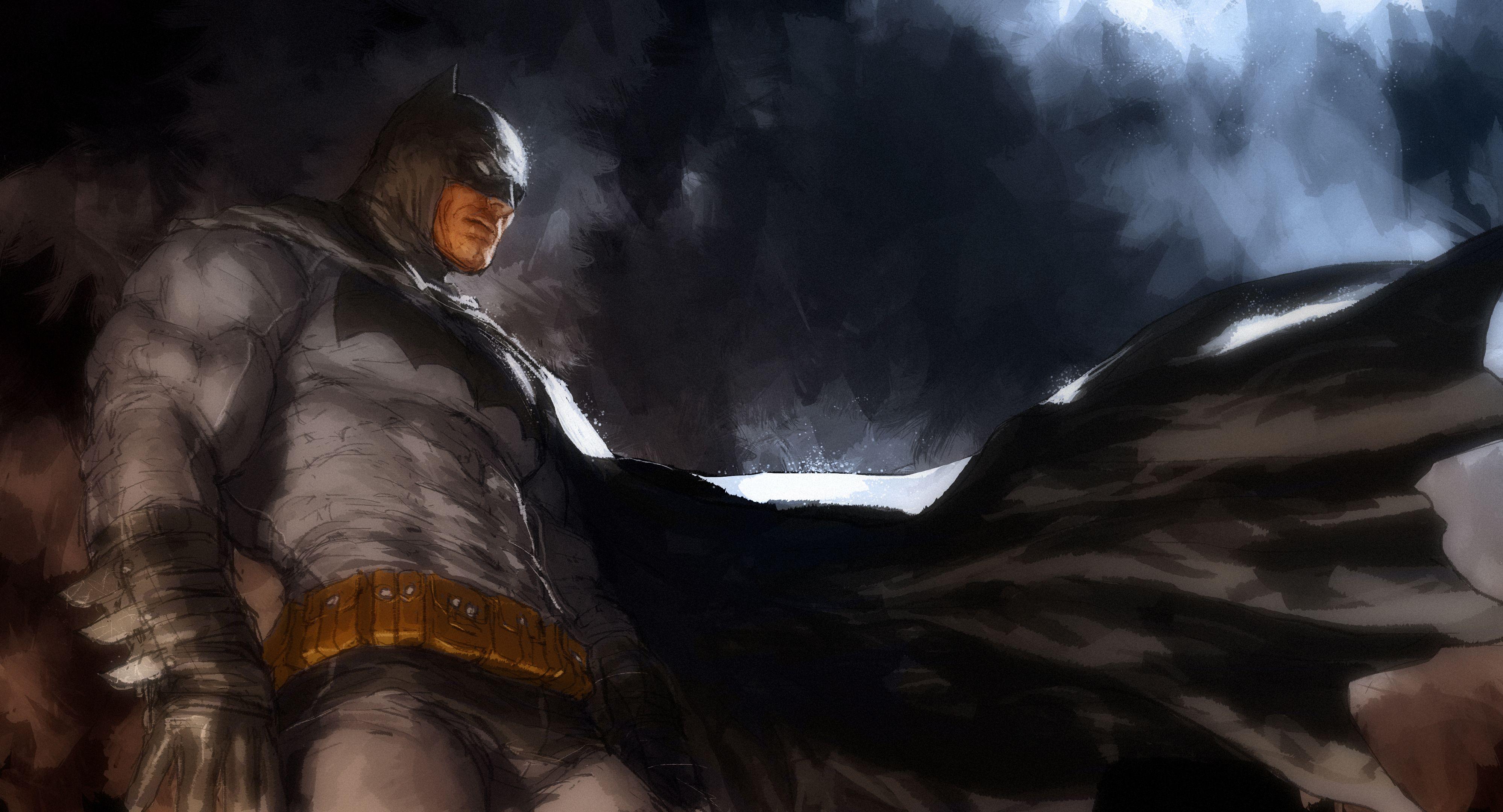 Batman Hero Men Cloak Superhero Dark Knight Wallpaper 3996x2160