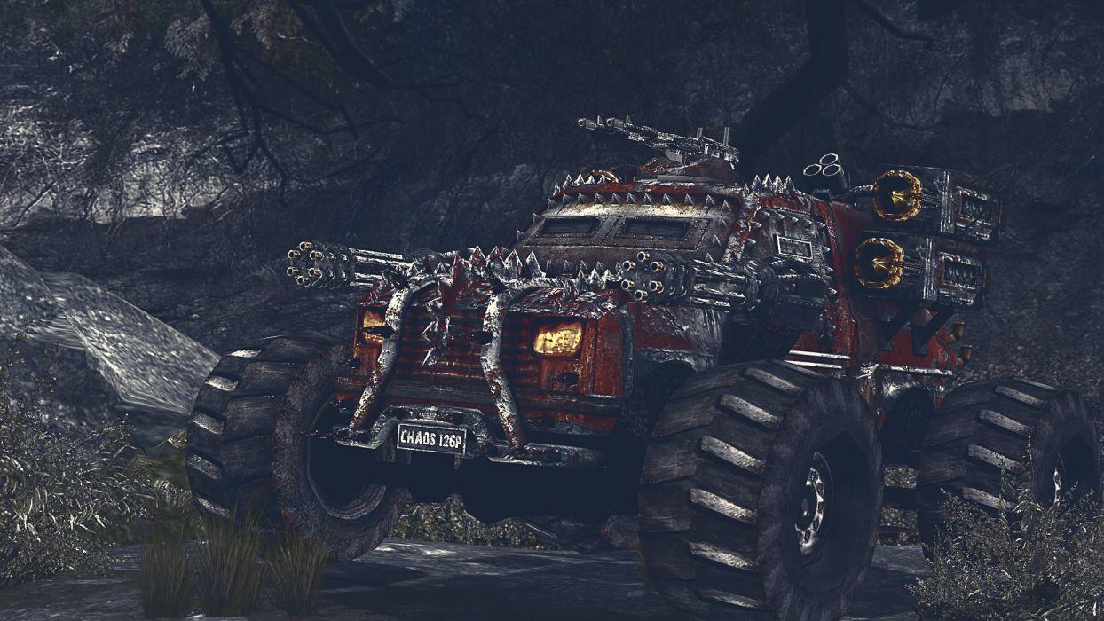Technics Machine guns Fantasy 4x4 offroad armor truck weapon wallpaper