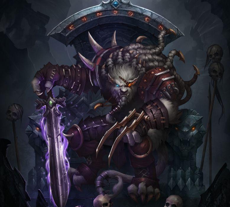 League Of Legends Warrior Rengar Sword Sitting Throne