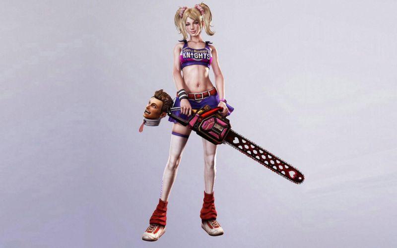 Lollipop Chainsaw dark blonde sexy babe d wallpaper