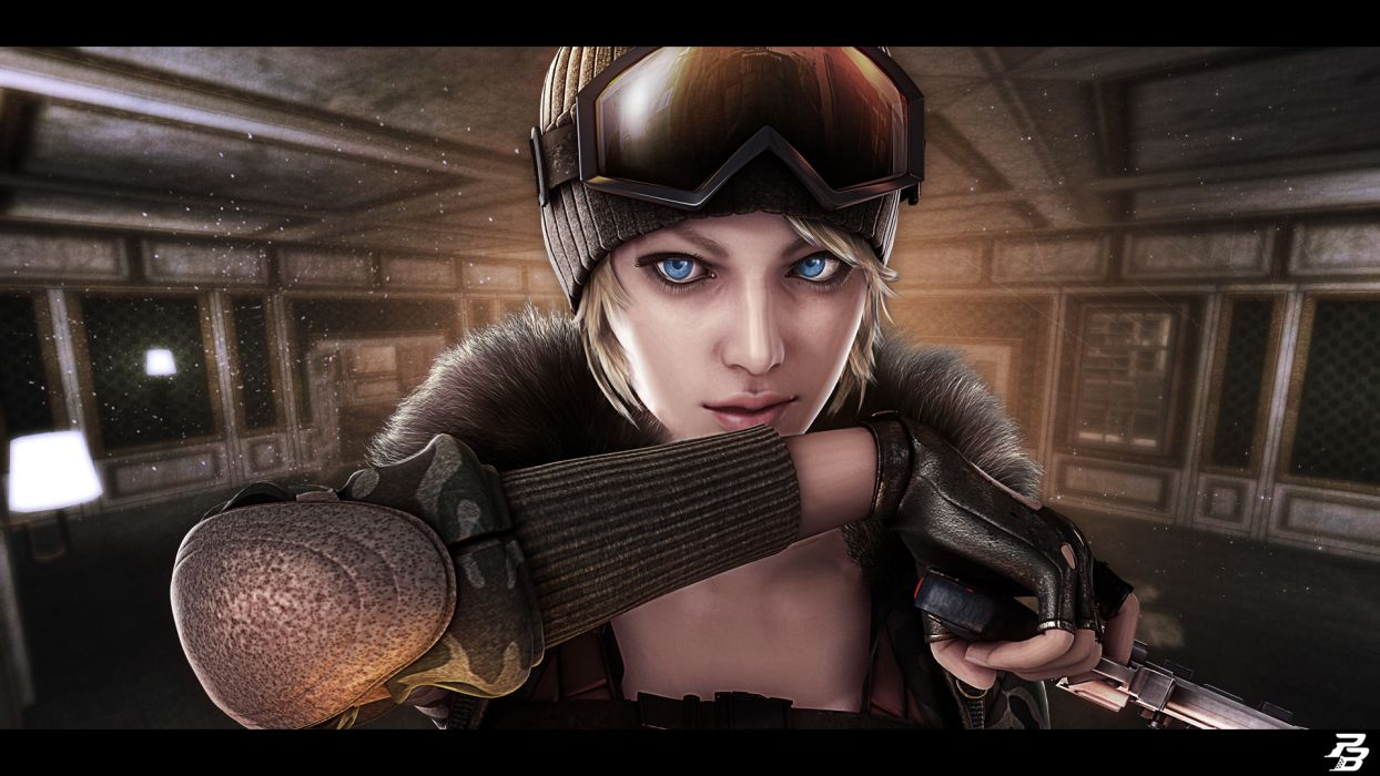 Point Blank Tarantula Glasses Game Girl warrior weapon blonde wallpaper