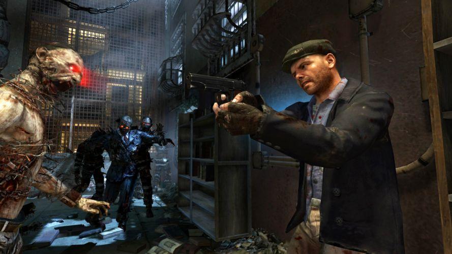 Call of Duty Black Ops 2 Uprising warrior soldier weapon gun blood dark zombie g wallpaper