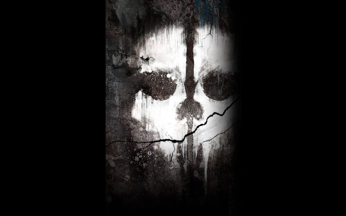 Call of duty ghosts ghost dark halloween scary skull - Scary skull backgrounds ...