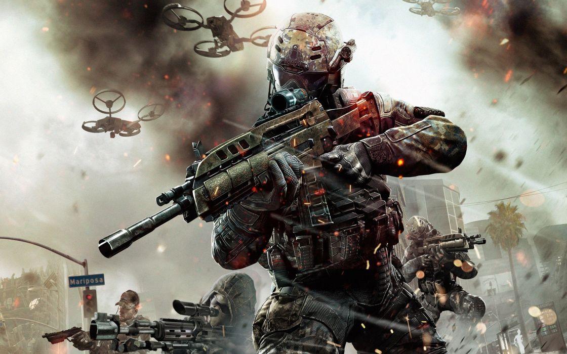Call of Duty Black Ops 2 warrior soldier weapon gun d wallpaper
