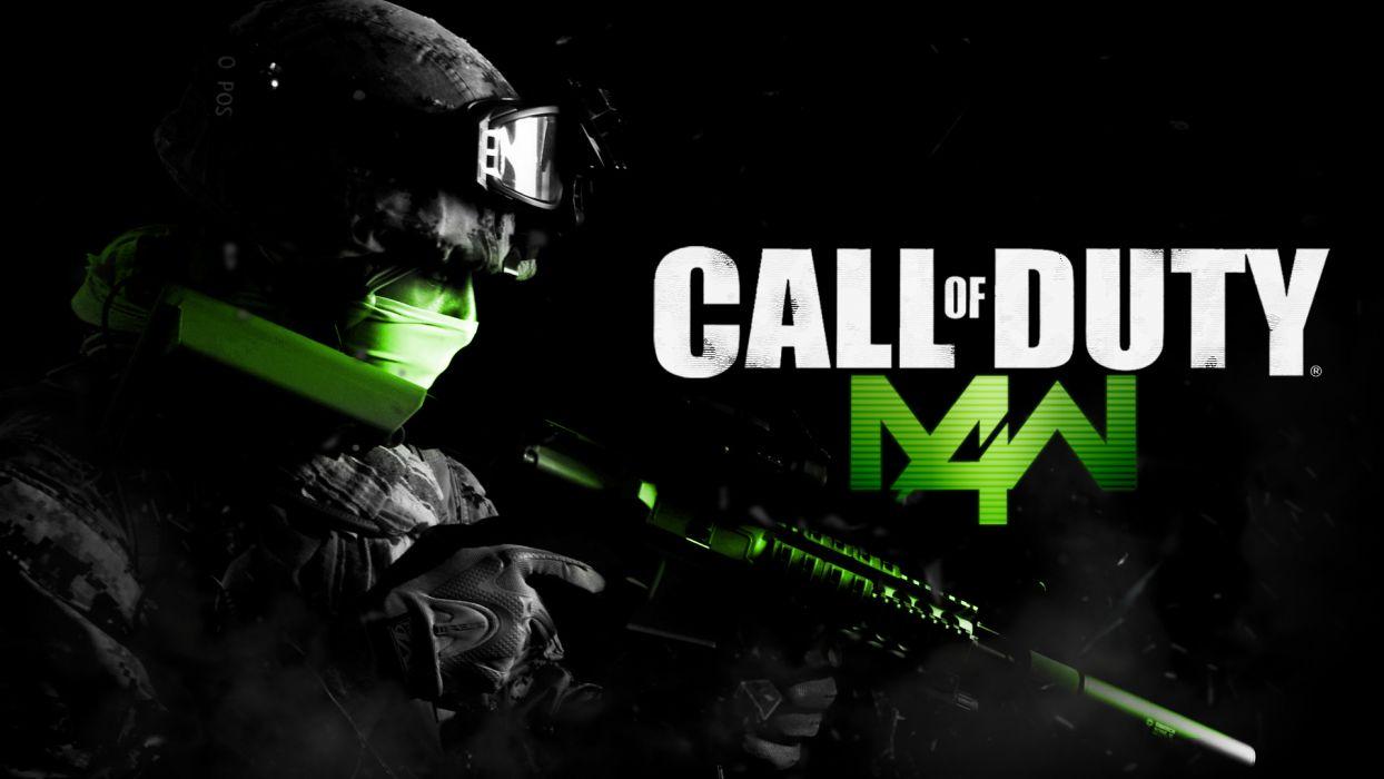 Call of Duty Modern Warfare 4 warrior soldier weapon gun         f wallpaper
