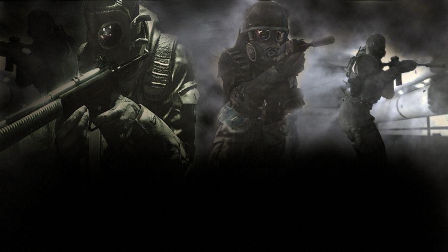 Call of Duty Modern Warfare 4 warrior soldier weapon gun b wallpaper