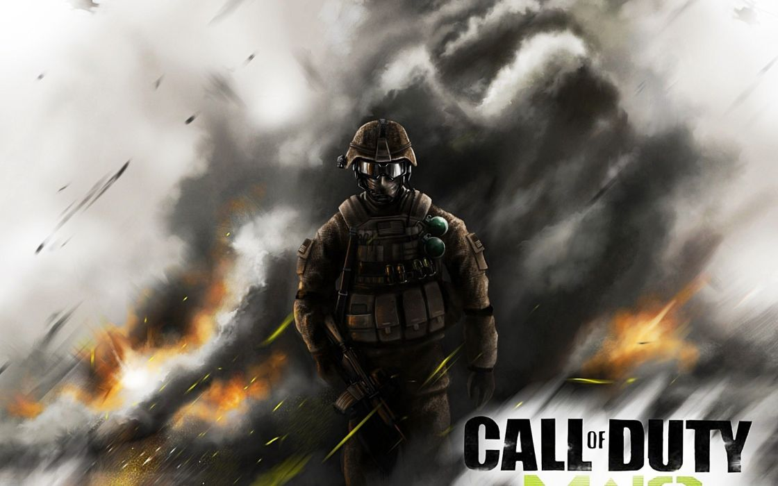 Call of Duty warrior soldier weapon gun      f wallpaper