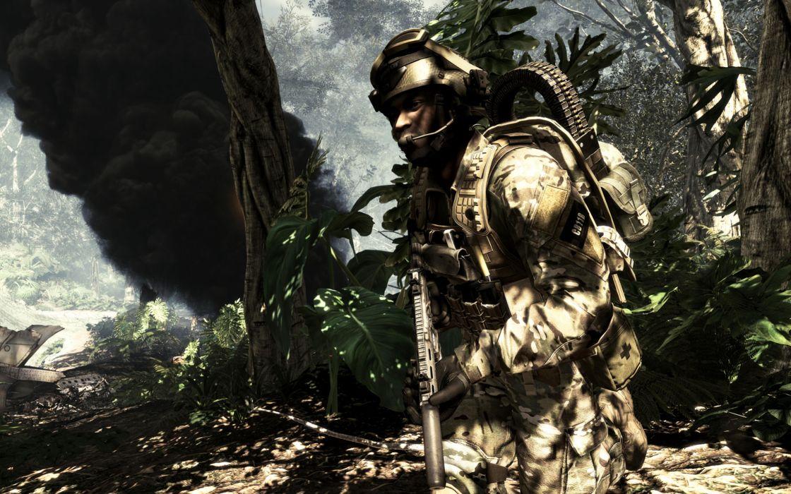 Call of Duty warrior soldier weapon gun   gs wallpaper