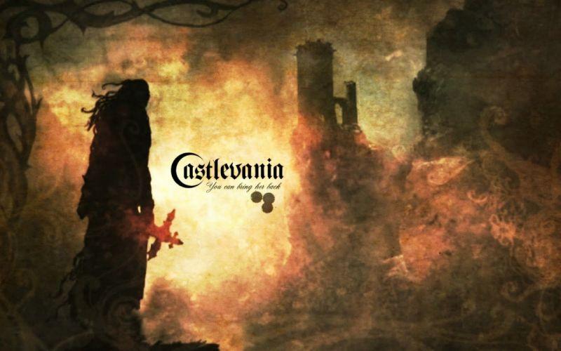 Castlevania fantasy dark castle d wallpaper