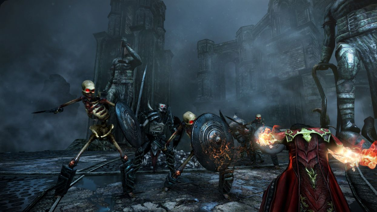 Castlevania fantasy warrior battle dark skeleton skull        g wallpaper