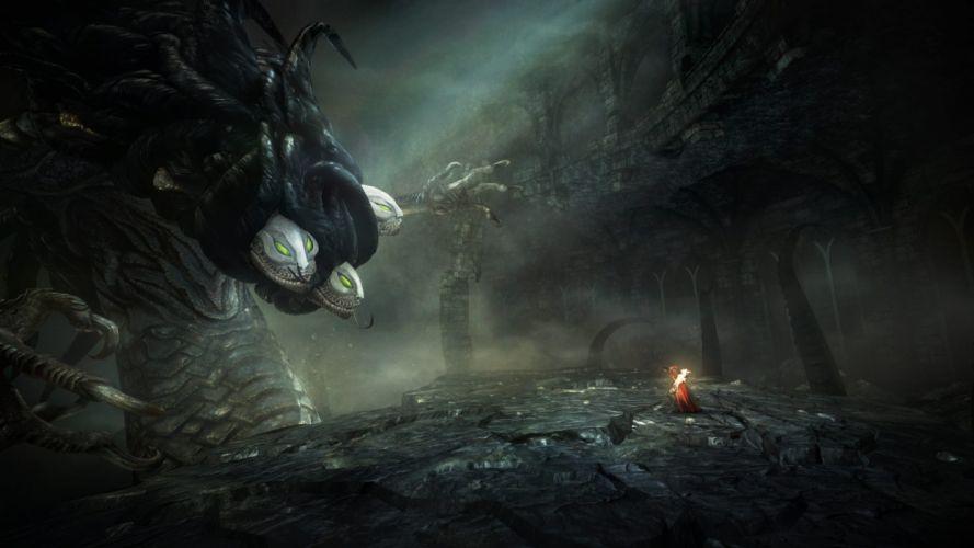 Castlevania fantasy warrior monster battle dark wallpaper