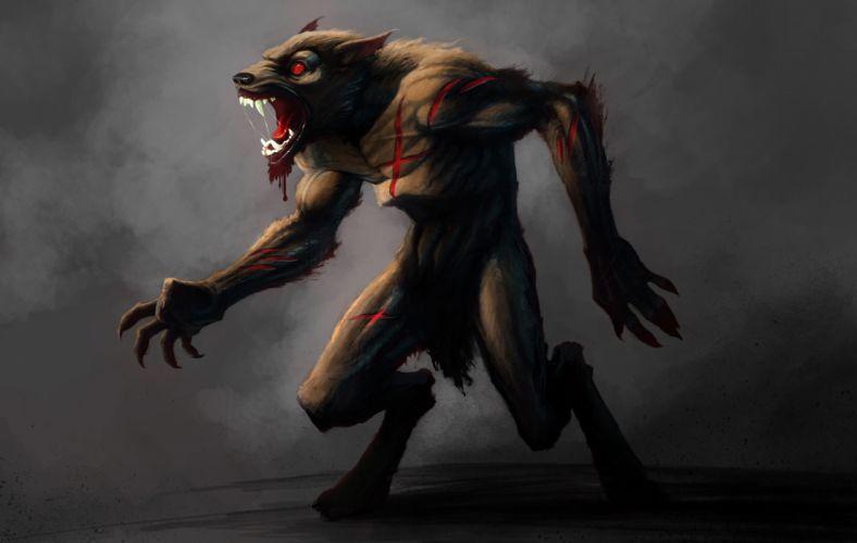Castlevania fantasy warrior monster werewolf halloween dark g wallpaper