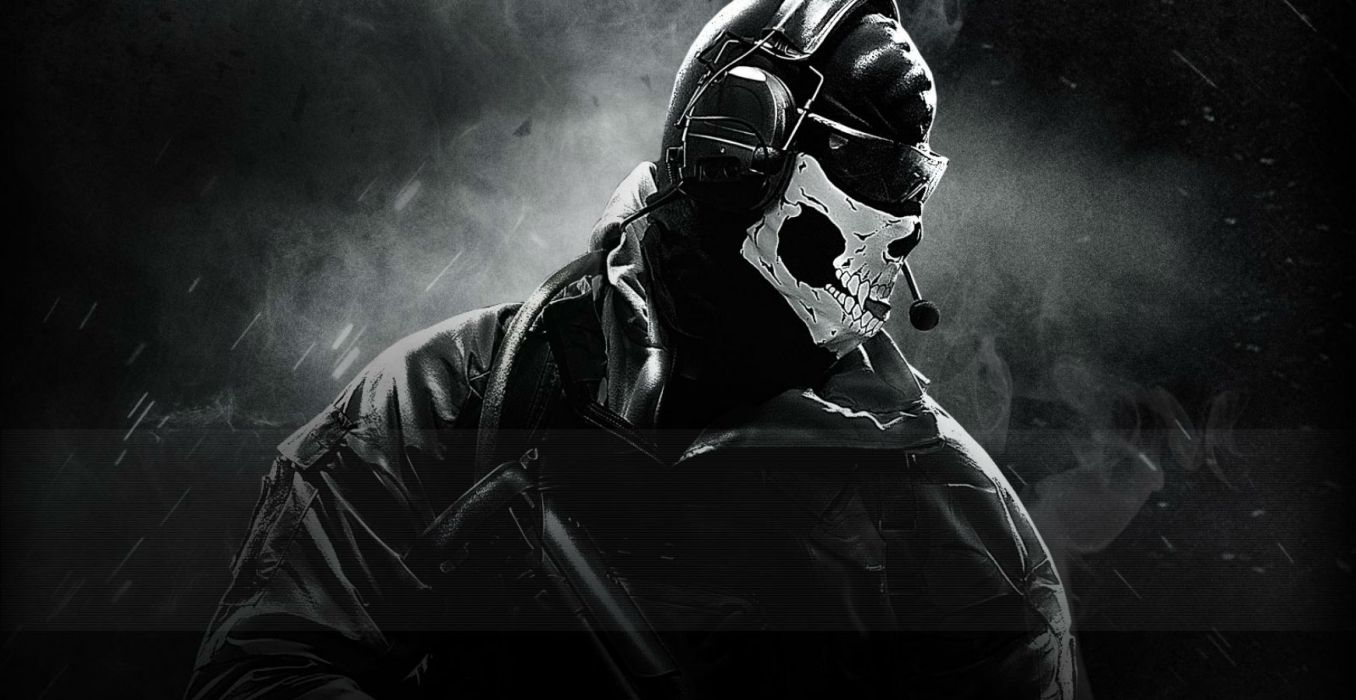 Call Of Duty Ghosts military warrior soldier weapon gun dark skull mask wallpaper