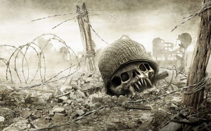 MEDAL OF HONOR warrior soldier skull dark alien sci-fi g wallpaper