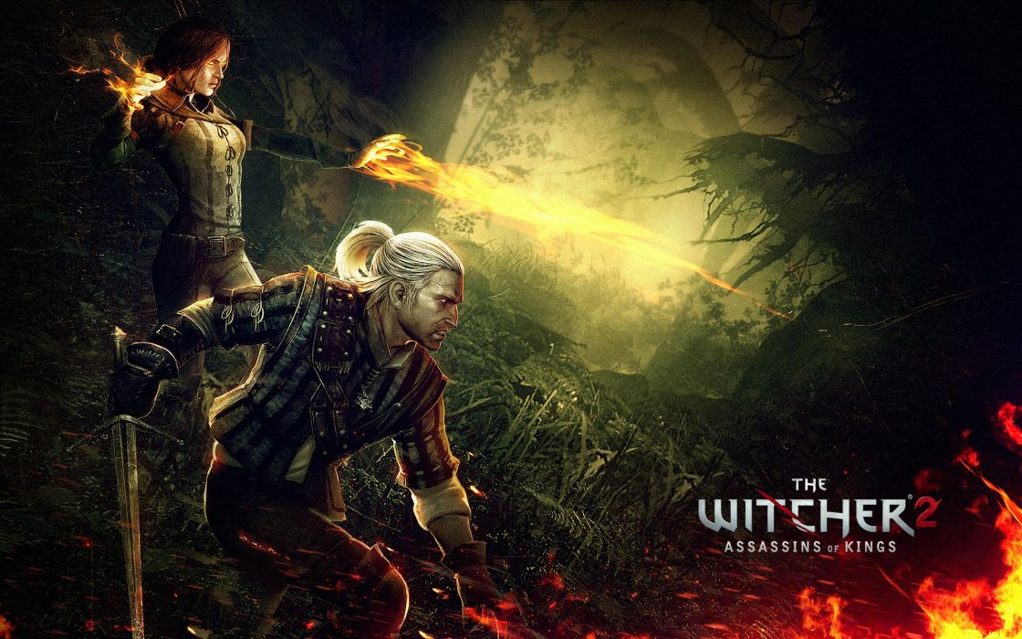 THE WITCHER fantasy warrior    ds wallpaper