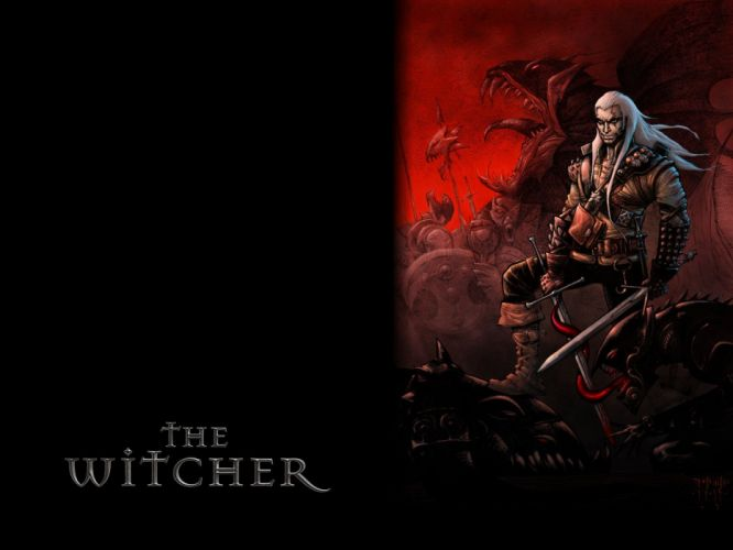 THE WITCHER fantasy warrior battle monster ge wallpaper