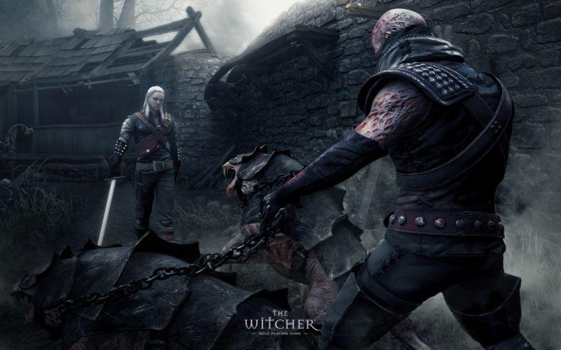 THE WITCHER fantasy warrior battle monster gn wallpaper