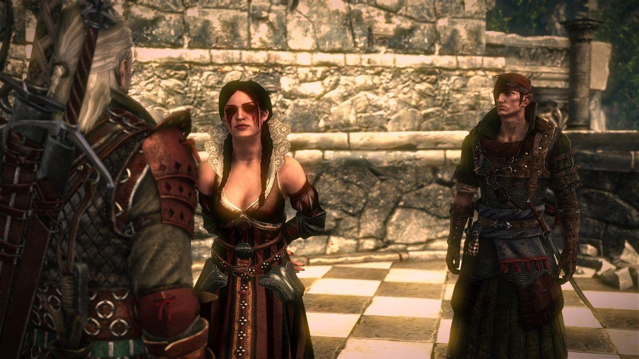 THE WITCHER fantasy warrior blood girl        f wallpaper
