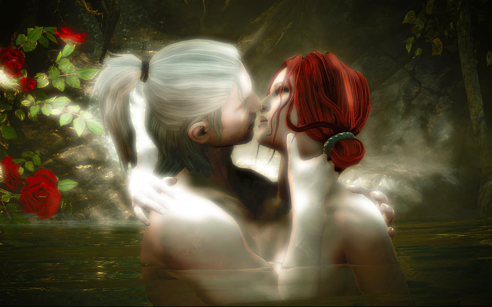 Fantasy Love Wallpaper Background : THE WITcHER fantasy warrior mood love g wallpaper 1680x1050 152141 WallpaperUP