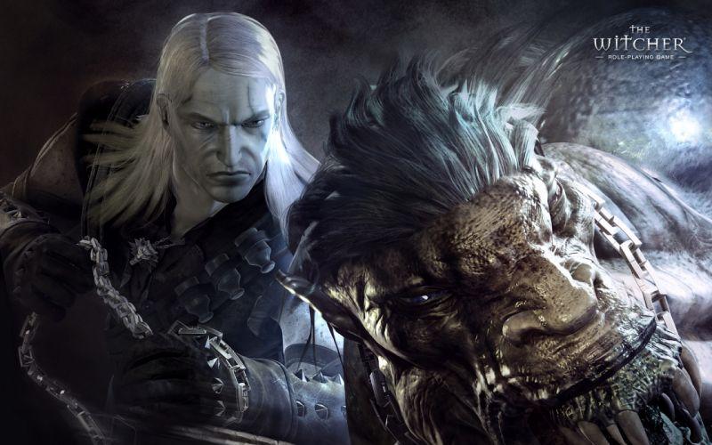 THE WITCHER fantasy warrior monster f wallpaper