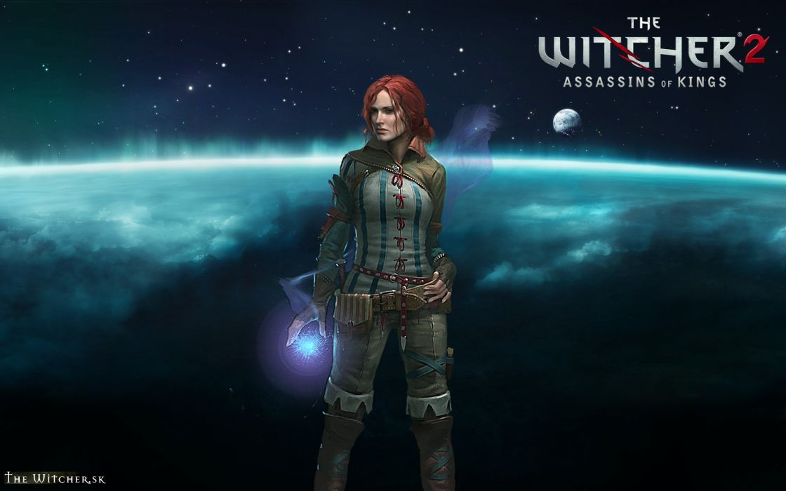 THE WITCHER fantasy warrior sci-fi magic girl space       g wallpaper