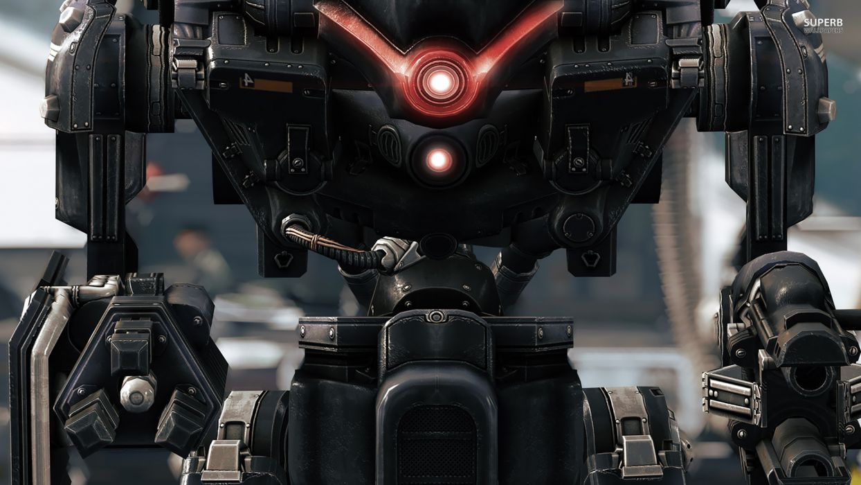 Wolfenstein warrior sci-fi armor robot mecha  gw wallpaper
