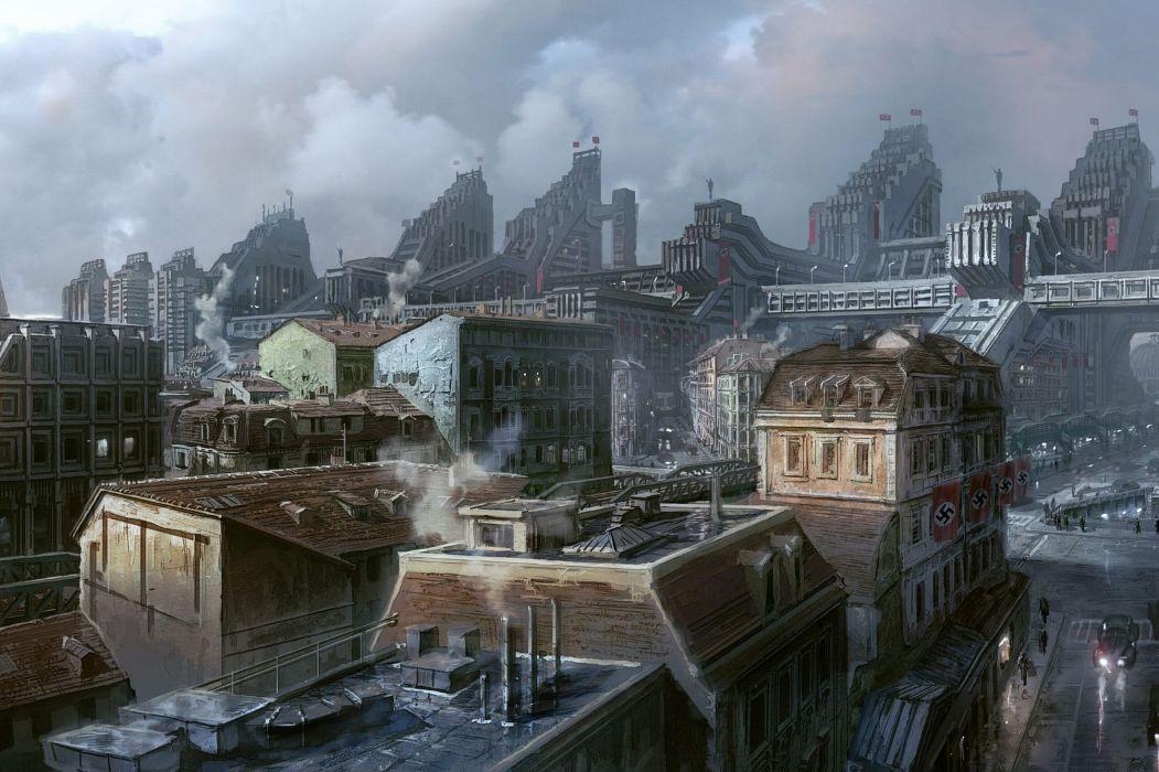 Wolfenstein fantasy city       g wallpaper