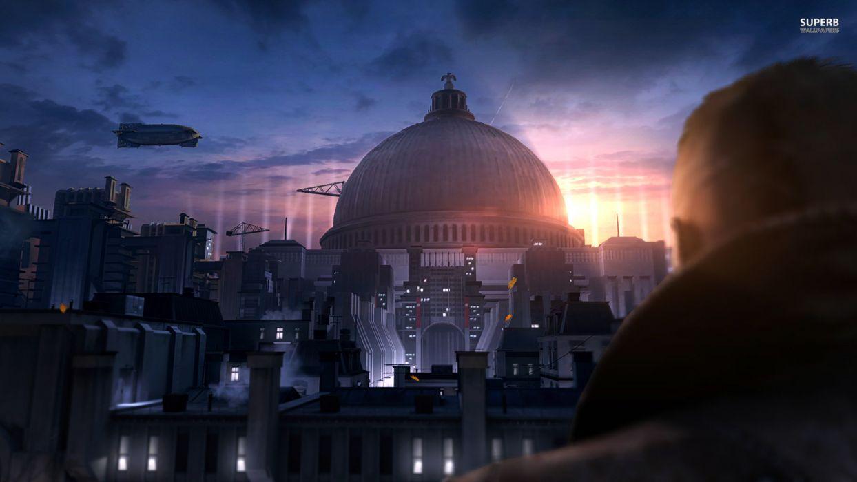 Wolfenstein sci-fi city   vc wallpaper