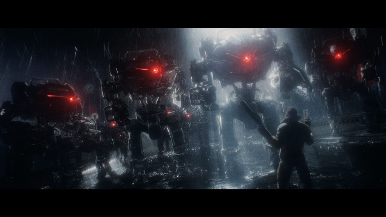 Wolfenstein warrior sci-fi armor robot mecha battle    h wallpaper