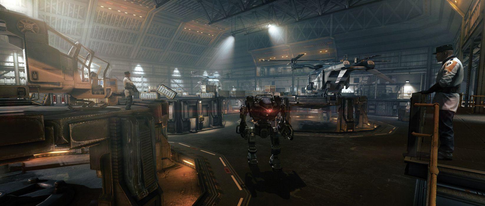 Wolfenstein warrior sci-fi armor robot mecha    g wallpaper