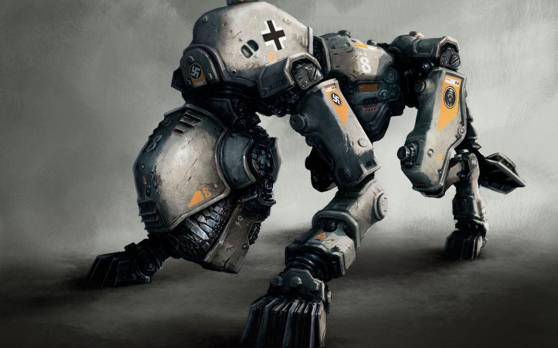 Wolfenstein warrior sci-fi armor robot mecha     g wallpaper