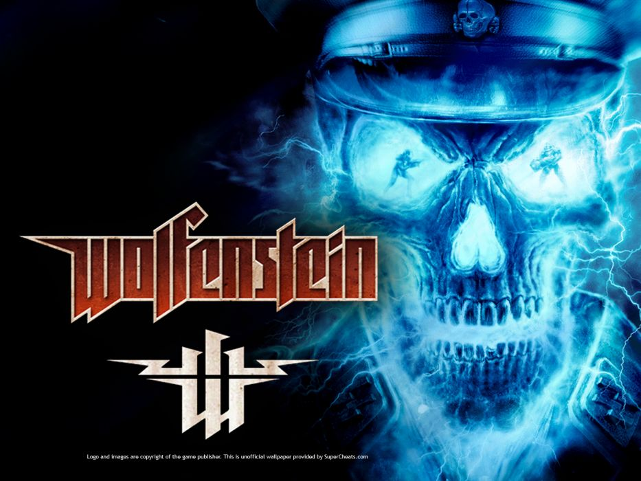 Wolfenstein dark nazi sskull    n wallpaper