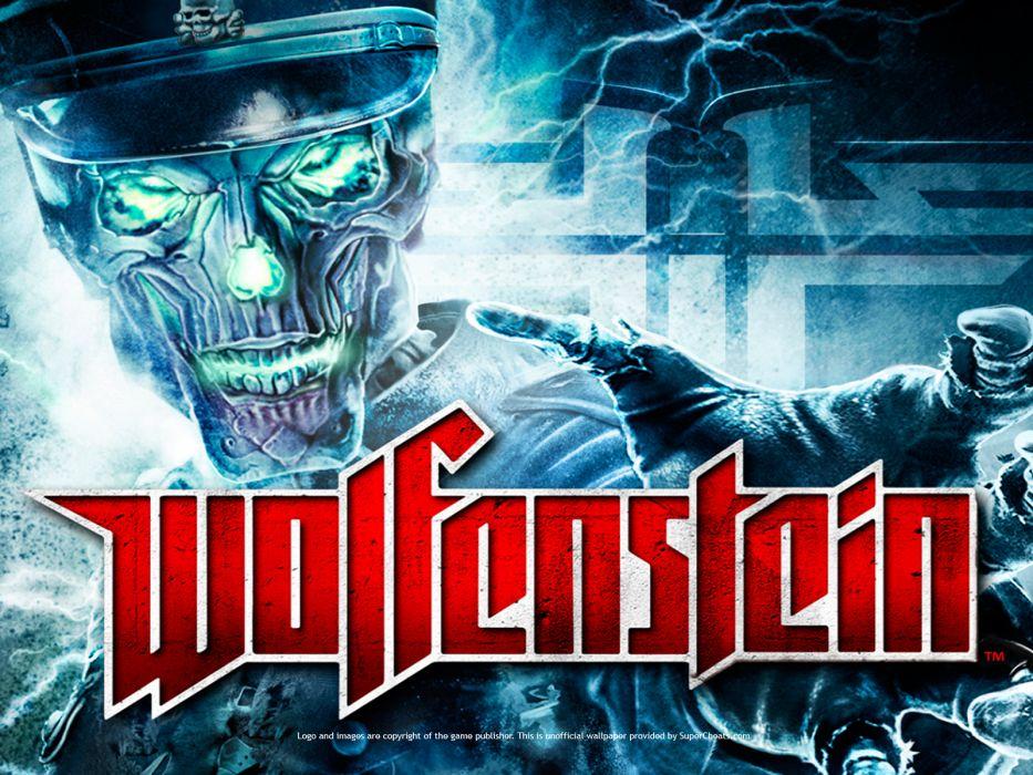 Wolfenstein dark nazi sskull g wallpaper