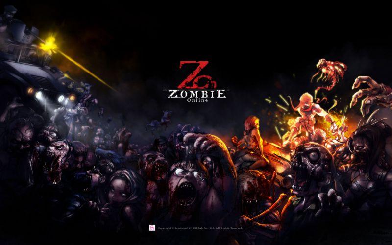 Zombie Online dark horror evil skull monster f wallpaper