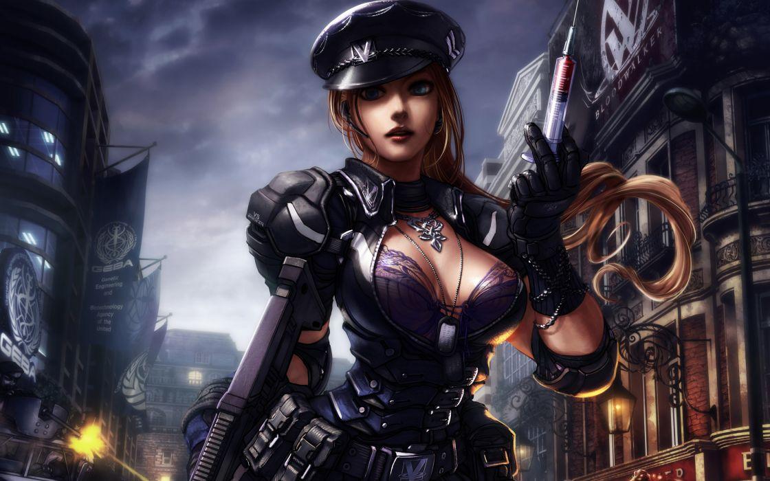 ZOMBIR ONLINE dark gothic sexy babe cleavage brunette warrior       r wallpaper