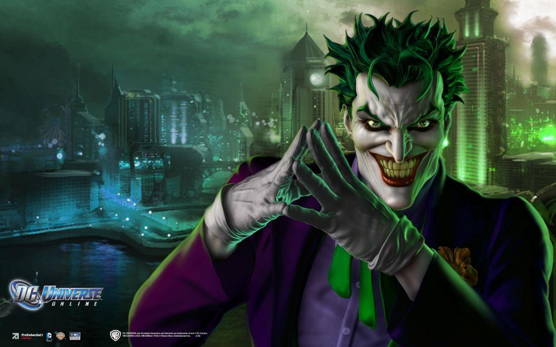 DC UNIVERSE ONLINE d-c superhero comics batman joker  f wallpaper