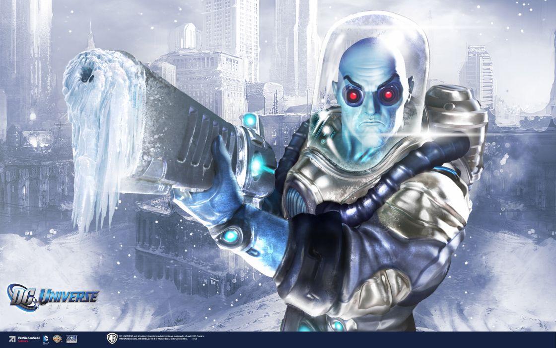 DC UNIVERSE ONLINE d-c superhero comics frost sci-fi ice warrior wallpaper