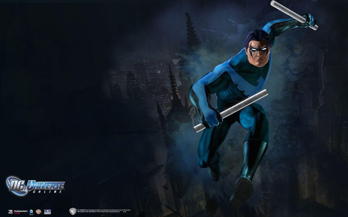 DC UNIVERSE ONLINE d-c superhero comics nightwing      f wallpaper