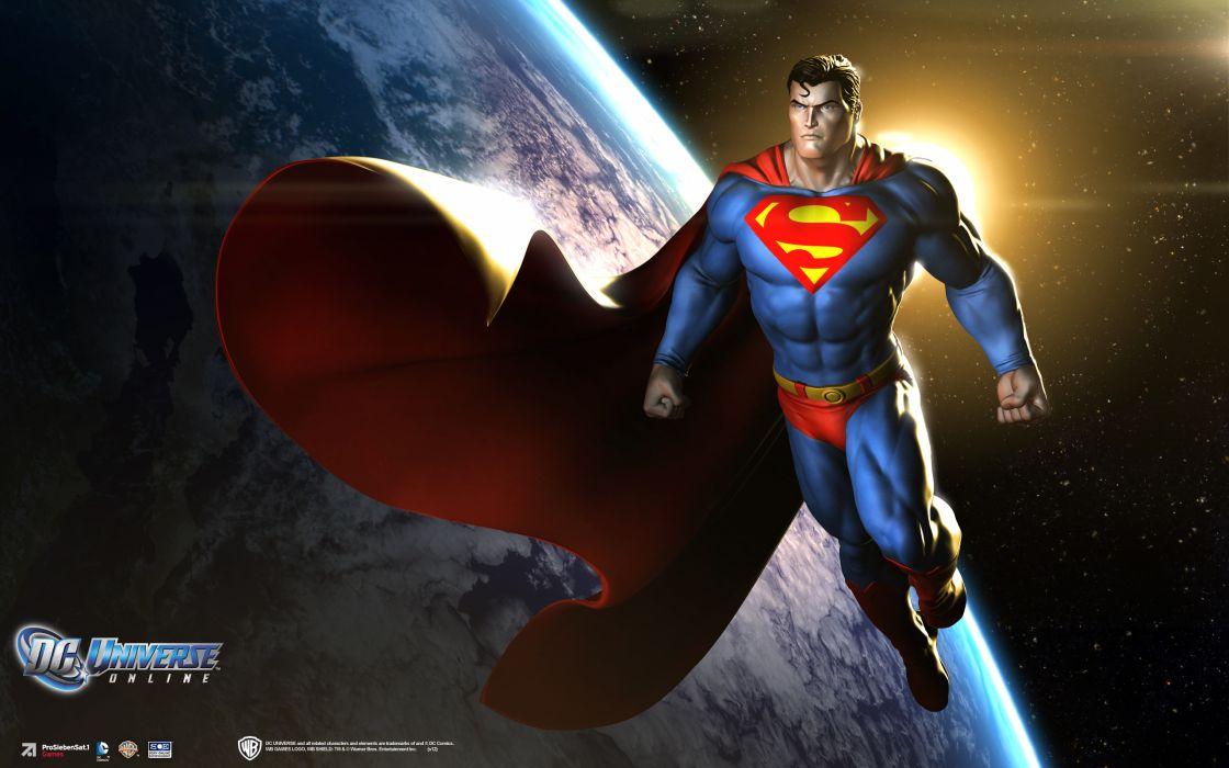 DC UNIVERSE ONLINE d-c superhero comics superman  f wallpaper