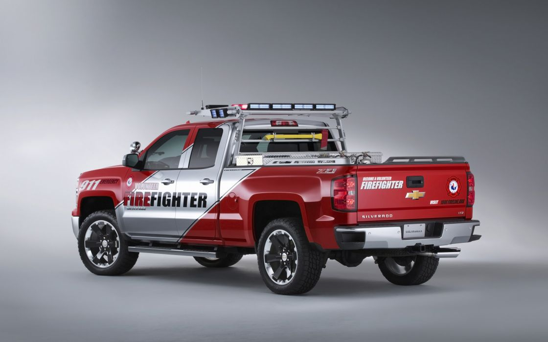 2013 Chevrolet Silverado Volunteer Firefighters Concept firetruck pickup emergency wallpaper
