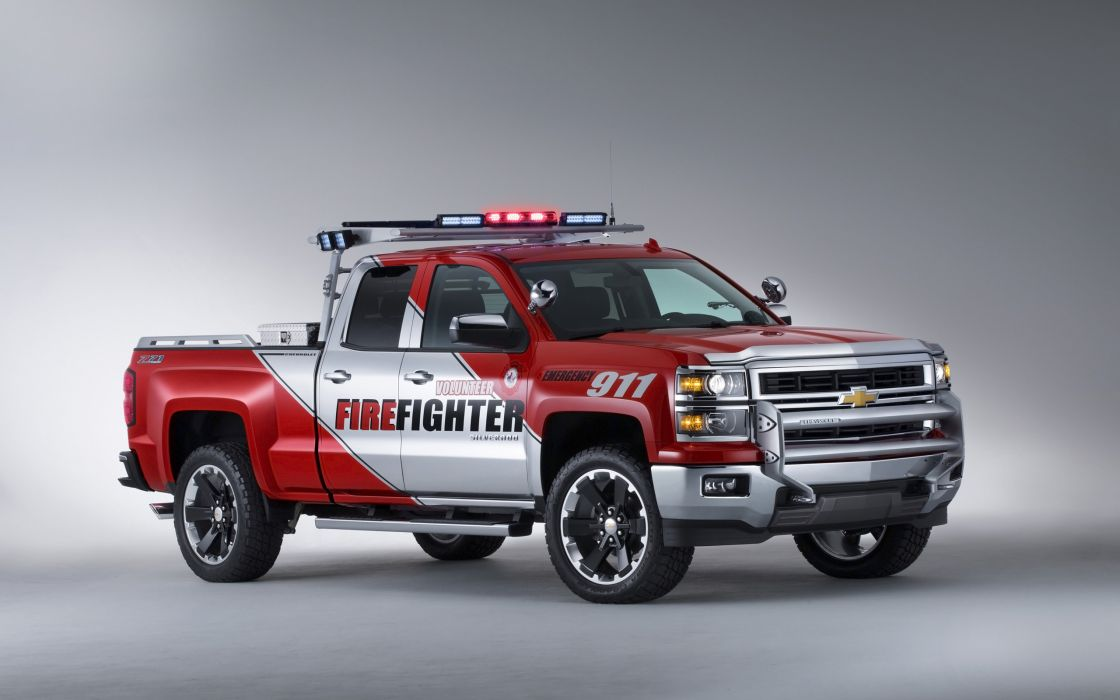 2013 Chevrolet Silverado Volunteer Firefighters Concept firetruck pickup emergency     f wallpaper