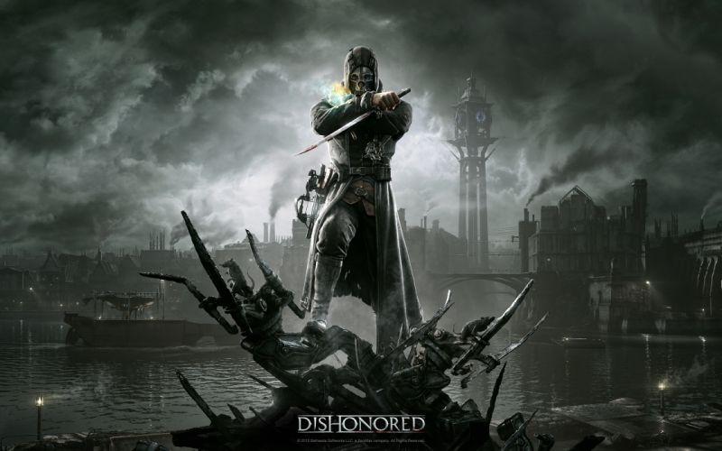 DISHONORED warrior fantasy dark skull h wallpaper